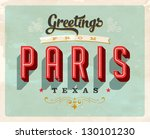 vintage touristic greeting card ... | Shutterstock .eps vector #130101230