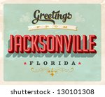 vintage touristic greeting card ... | Shutterstock .eps vector #130101308
