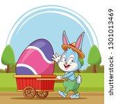 happy easter poster. easter... | Shutterstock .eps vector #1301013469