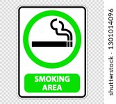 symbol smoking area sign label... | Shutterstock .eps vector #1301014096