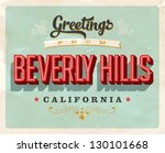 vintage touristic greeting card ... | Shutterstock .eps vector #130101668