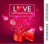 happy valentine's day card and... | Shutterstock .eps vector #1301018266