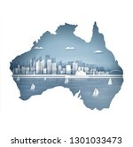 Australia Map Concept With...