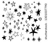 star doodles  hand drawn stars... | Shutterstock .eps vector #1301037790