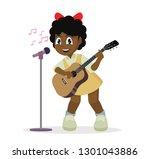 cartoon character  african girl ... | Shutterstock .eps vector #1301043886