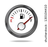 fuel indicator shows full fuel... | Shutterstock . vector #130104410