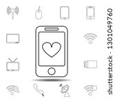 heart in the smartphone icon....