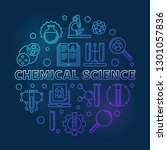 chemical science vector blue... | Shutterstock .eps vector #1301057836