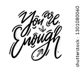 you are enough hand drawn... | Shutterstock .eps vector #1301080060