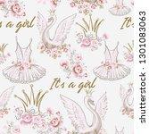 cute ballet seamless pattern... | Shutterstock .eps vector #1301083063