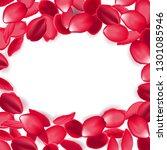 falling red rose petals... | Shutterstock .eps vector #1301085946