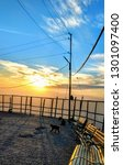 sunset view in vaishno devi...   Shutterstock . vector #1301097400