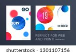 set of design of brochure... | Shutterstock .eps vector #1301107156