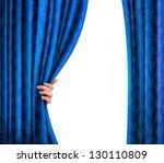 Background With Blue Velvet...