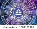 zodiac libra symbol inside of... | Shutterstock . vector #1301122186