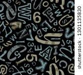 school lettering seamless... | Shutterstock .eps vector #1301135830