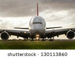 Airbus A380 Jet Airliner Front...