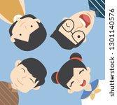 men and women funny group... | Shutterstock .eps vector #1301140576