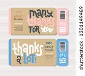 promotional coupon design... | Shutterstock .eps vector #1301149489