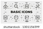 basic icons line icon set