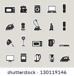 home appliances and electronics ... | Shutterstock .eps vector #130119146