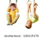 preschool children playing and... | Shutterstock . vector #130119170
