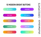 call to action web buttons set. ... | Shutterstock .eps vector #1301195473