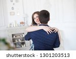 the beautiful young girl and... | Shutterstock . vector #1301203513