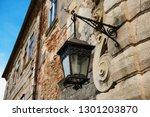 ancient iron lantern on the... | Shutterstock . vector #1301203870