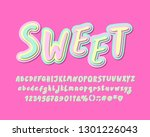 cute alphabet  sweet color.... | Shutterstock .eps vector #1301226043
