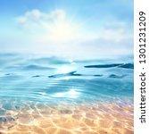 summer landscape  nature of... | Shutterstock . vector #1301231209