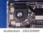 part of a disassembled laptop... | Shutterstock . vector #1301233009