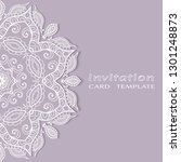 invitation or card template... | Shutterstock .eps vector #1301248873