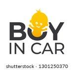 vector car sticker with a text  ... | Shutterstock .eps vector #1301250370