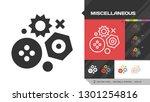 miscellaneous black glyph... | Shutterstock .eps vector #1301254816