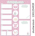 stationery weekly planner and... | Shutterstock .eps vector #1301254939