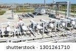 heat exchangers in a refinery....   Shutterstock . vector #1301261710