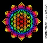 flower of life   lotus flower   ... | Shutterstock . vector #130126364
