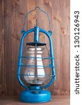 old kerosene lantern on the... | Shutterstock . vector #130126943