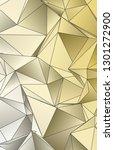 background triangulated texture.... | Shutterstock . vector #1301272900