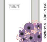 greeting card with flowers ... | Shutterstock .eps vector #1301278156