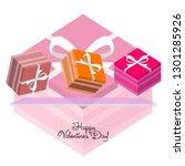 valentine's day  gift  greeting ... | Shutterstock .eps vector #1301285926