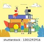 education  self education... | Shutterstock .eps vector #1301292916