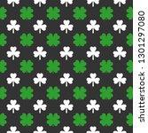 clover seamless pattern. saint... | Shutterstock .eps vector #1301297080