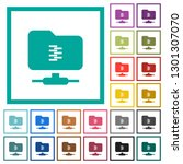ftp compression flat color... | Shutterstock .eps vector #1301307070