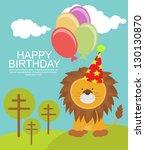 birthday card | Shutterstock .eps vector #130130870
