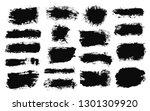 brush strokes. vector... | Shutterstock .eps vector #1301309920