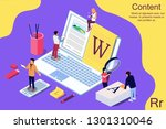 isometric concept creative... | Shutterstock .eps vector #1301310046