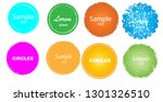 grunge post stamps collection ... | Shutterstock .eps vector #1301326510