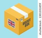 vector cardboard box icon. on... | Shutterstock .eps vector #1301331859